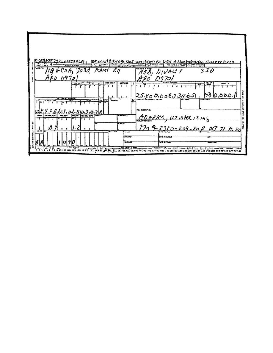 Figure 3PE.DA Form 2765 -1, Request for Issue or Turn-in